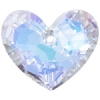 Truly In Love Heart 36mm Aurora Borealis Crystal